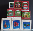 MAKE OFFER! Hallmark Ornaments Town and Country complete series of six + two