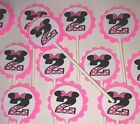 30 MINNIE MOUSE 2 BIRTHDAY Cupcake Toppers Party Favors 30