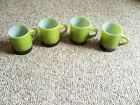 4 FIRE KING STACKABLE MUGS GREEN BLACK MORE AVAILABLE
