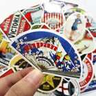 55x Retro Vintage Old Fashioned Style Luggage Suitcase Travel Stickers Gift New