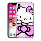 Cute Hello Kitty Purple Ribbon Pattern Phone Case Cover For iPhone Samsung LG