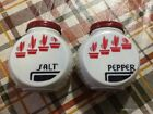 FIRE KING VINTAGE SALT AND PEPPER SHAKERS ORIGINAL CONDITION FLOWER POT DESIGN