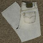 Vintage 90s Mens Silver Button Fly Light Wash Jeans 34X28