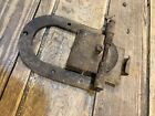 Antique Barn Door Hanger Roller Track Trolley Pulley Hardware Farm Wood Old