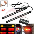 2X Integrated Motorcycle Car 48LED Tail Brake Stop Turn Signal Light Strip 12V