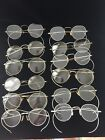 Antique Lot of 12 Silver Tone / White Metal SPECTACLES - AS-IS-AS-SHOWN
