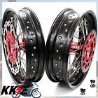 KKE 17 INCH SUPERMOTO WHEEL RIM FIT HONDA XR650R 2000-2008 DIRTBIKE DISC CNC HUB