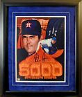 Nolan Ryan Signed Framed 5000 Strikeout 11 x 14 Lithograph w JSA