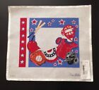 Red White Blue Baseball Birth Announcement Needlepoint Canvas Alice Peterson NEW