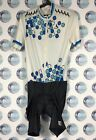 BLACKY CYCLING SHIRT JERSEY MAILLOT MAGLIA VINTAGE WHITE BLACK BLUE XL