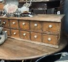 ANTIQUE Primitive APOTHECARY CABINET Farmhouse Pine Cubbies