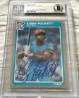 Kirby Puckett autographed signed auto 1985 Fleer Rookie Card RC #286 Beckett BAS