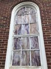 Vintage Large Arched Stained Glass Church Window