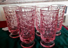 Set of 6 Pink Drinking Glass 6