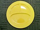 VINTAGE FIESTAWARE YELLOW  DIVIDED COMPARTMENT GRILL 10 1/2