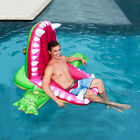 Crocodile Rideable Swimming Ring Inflatable Pool Toy Float Inflatable Swan Rafts