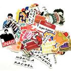 US Cartoon Notebook Phone Stickers Friends Tv Show Funny Badges Decor Stickers