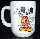 ANCHOR HOCKING VINTAGE MICKEY MOUSE MILK GLASS COFFEE MUG from PEPSI 1980
