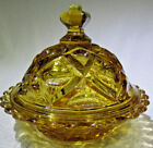 Beautiful Amber Candy dish with lid