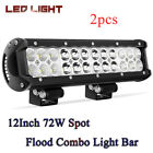 6-12inch Gree Led Light Bar Row Flood Spot Beam For Offroad Truck Blazer Car