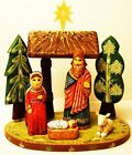 Alkota Russian Genuine Wooden Collectible Nativity 9H x 10W x 6D Limited