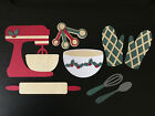 Christmas Holiday Baking Set Mixer Oven Mitts Measuring Spoons Bowl Spoon Whisk