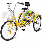 7 Speed Adult 20 26 3 Wheel Tricycle Trike Bike Bicycle Cruise With Basket