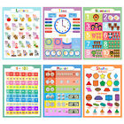 6Pcs Animal ABC Alphabet Time Learn Children Educational Paper Poster In USA