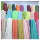 10 Yards Chiffon Fabric 60 Wide Roll Sheer Draping 40 Color Wedding Party Decor