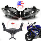 Headlight Assembly + Upper Fairing Stay Bracket For Yamaha YZF-R1 2005 2006 2004