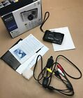 Sony Cyber-shot DSC-H55 14.1MP Digital Camera - Silver-boxed with cables.