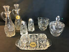 VINTAGE Anchor Hocking Early American Prescut Glass * 11 PIECE TABLE SERVICE SET