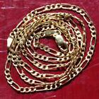 10k yellow gold necklace 180 Figaro link chain vintage 15gr