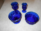 Vintage INDIANA Kings Crown Thumbprint Cobalt blue collection