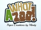 CRAFTECAFE MINDY ZOO TRAVEL TRIP premade paper piecing scrapbook title diecut