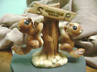 VINTAGE 3 PC NIAGARA FALLS SQUIRREL TREE MADE IN JAPAN SALT AND PEPPER SHAKERS