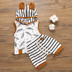 2pcs Toddler Baby Boy Girl Hooded T shirt Tops+Shorts Pants Outfits Clothes US