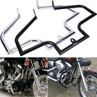 Chrome/ Black Engine Guard Crash Bar For Harley Fatboy FLSTF Softail FLSTC FLSTN