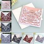 10pcs Laser Cut Lace Party Wedding Invitation Greeting Cards Envelope Kit