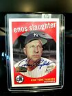 ENOS SLAUGHTER AUTO 1959 TEAM TOPPS #155 FAN FAVORITES ARCHIVES.MINT
