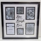 LIVE LAUGH LOVE Collage 6 Picture Frame  NEW