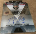 2016-17 UD TRILOGY ICE SCRIPTS MARC-ANDRE FLEURY AUTO # IS-MF Now w VEGAS !!!