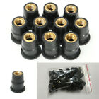 50Pcs M5 Rubber Well Nut Brass For Motorcycles ATV Windscreens Fairings Fender