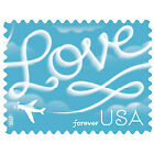 200 stamp Love Skywriting US Forever Stamps 2017 Issue 10 Sheet of 20 Brand New