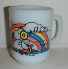 Vintage Peanuts Snoopy Roller Skating Cartoon Anchor Hocking Coffee Mug Cup