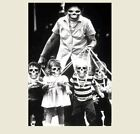 Vintage Creepy Zombies Children PHOTO Leashed Freak Scary Halloween Mask Weird