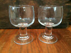 Vtg MCM French FRANCE Pair Wine Glasses with VERY WIDE 1