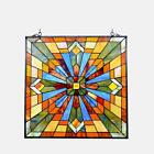 Stained Glass Chloe Lighting Mission Window Panel CH1P037AM24 GPN 24 Inches New