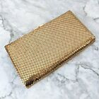 Vintage Gold Toned Mesh Hand Bag Clutch Purse Wallet 675 x 4 GREAT