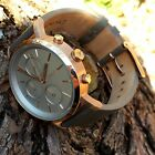 DKNY NY2338 Ladies Rose Gold Tone/Silver/Gray Leather Watch Running